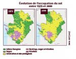 Evolution de l'occupation du sol entre 1979 et 2000